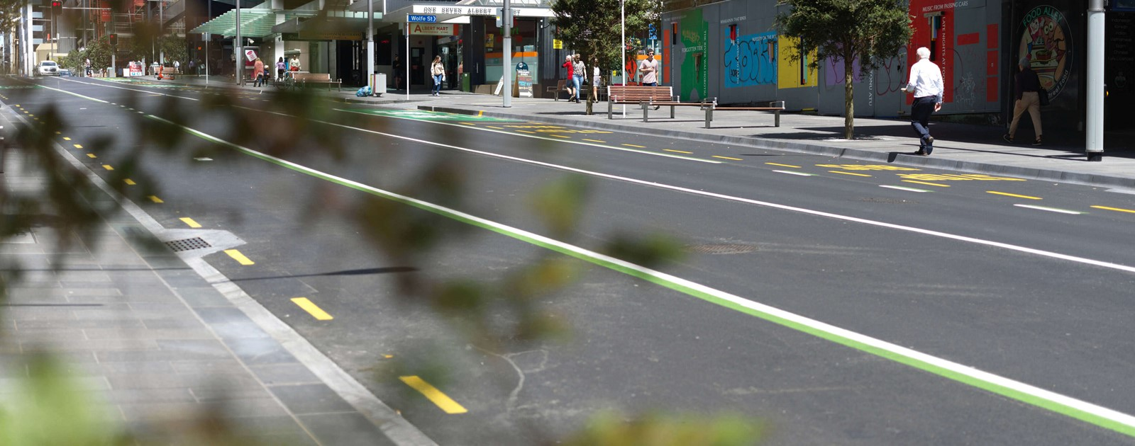 City Rail Link Lower end of Albert Street upgrade