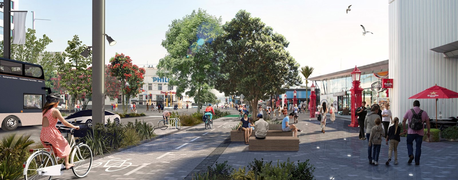 Artist's impression of the new and improved Quay Street.