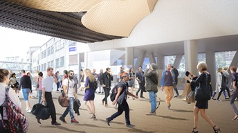 Artist's impression of the new train station on K Road.
